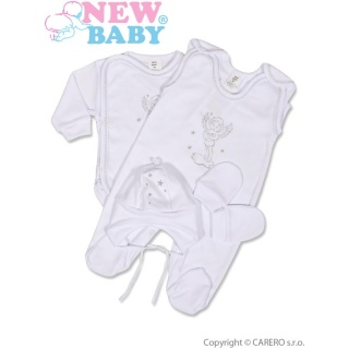 4-dílná soupravička New Baby andílek Bílá 62 (3-6m)
