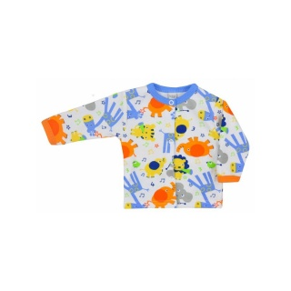 Kojenecký kabátek Bobas Fashion Zoo modrý Modrá 80 (9-12m)