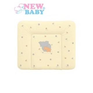 Přebalovací podložka měkká New Baby Sloník žlutá 85x70