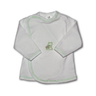 Kojenecká košilka s vyšívaným obrázkem New Baby zelená Zelená 68 (4-6m)