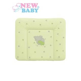 Přebalovací podložka měkká New Baby Sloník zelená 85x70