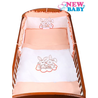 3-dílné ložní povlečení New Baby Bunnies 90/120 oranžové Oranžová