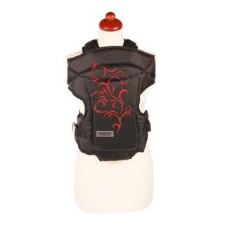 Nosítko Womar Zaffiro Butterfly černé s červenou výšivkou Černá