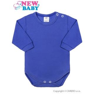 Kojenecké body s dlouhým rukávem New Baby modré Modrá 50