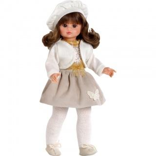 Luxusní dětská panenka-holčička Berbesa Roberta 42cm Béžová