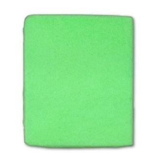 Froté prostěradlo do postýlky zelená Zelená