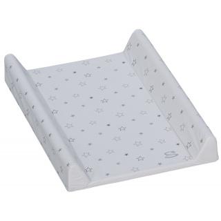 Přebalovací podložka s pevnou vložkou Scarlett Hvězdička 70 x 50 cm - bílá