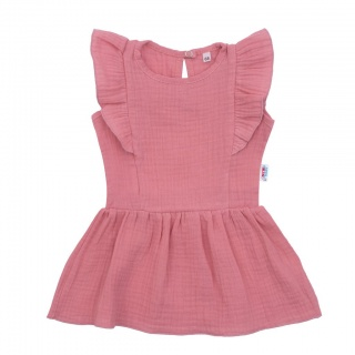 Kojenecké mušelínové šaty New Baby Summer Nature Collection růžové Růžová 62 (3-6m)