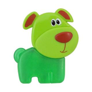 Chladící kousátko Baby Mix Pejsek zelené Zelená