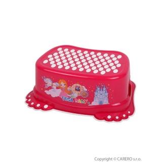 Dětské protiskluzové stupátko do koupelny Malá Princezna růžové Růžová