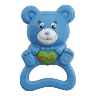 Dětské chrastítko Baby Mix medvěd modrý Modrá