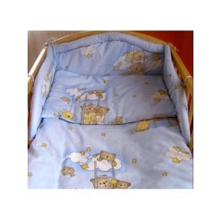 2-dílné ložní povlečení New Baby 90/120 cm modré s medvídkem Modrá