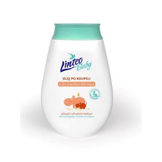 Dětský olej po koupeli Linteo Baby s měsičkem lékařským Bílá