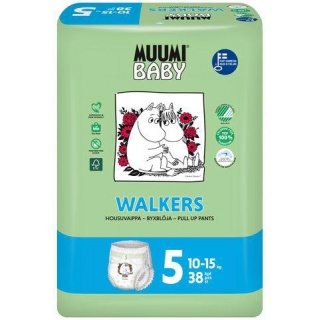 MUUMI Baby Walkers Maxi+ size 5 (10-15 kg) 38 ks – jednorázové pleny