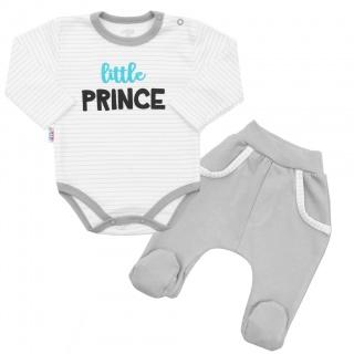 2-dílná bavlněná souprava New Baby Little Prince Šedá 86 (12-18m)