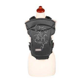 Nosítko Womar Zaffiro Butterfly černé s šedou výšivkou Černá