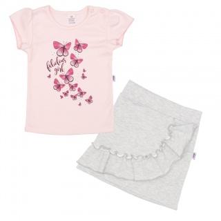 Kojenecké tričko se sukýnkou New Baby Butterflies Růžová 62 (3-6m)