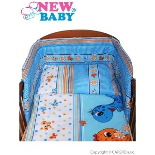 2-dílné ložní povlečení New Baby 90/120 cm modré s dinem Modrá