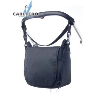 Taška na kočárek CARETERO - black Černá