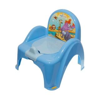 Dětský nočník s poklopem modrý safari Modrá