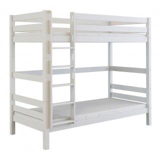 Patrová dřevěná postel Scarlett SOFIE - bílá (buk) - 200 x 90 cm