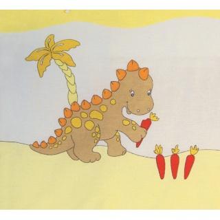 Souprava do postýlky 4dílná - Scarlett Dráček - žlutá 90 x 120 cm