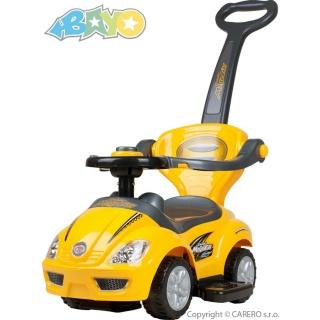 Dětské jezdítko 3v1 Bayo Mega Car yellow Žlutá