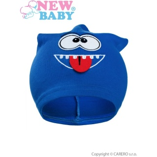Podzimní dětská čepička New Baby smíšek modrá Modrá 110 (4-5r)