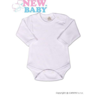 Body dlouhý rukáv New Baby - bílé Bílá 86 (12-18m)