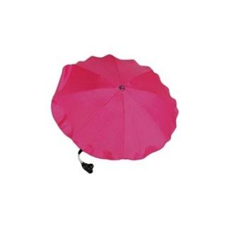 Slunečník na kočárek - malinový Růžová