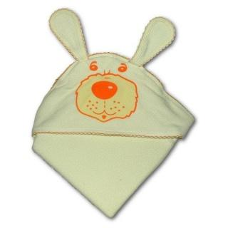 Dětská froté osuška pejsek 100x100 béžová Béžová