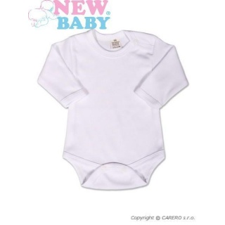 Body dlouhý rukáv New Baby - bílé Bílá 50