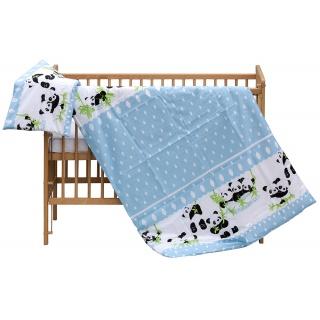Dětské povlečení 2dílné Scarlett Panda - modrá 100 x 135 cm