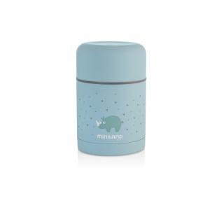 Miniland Termoska Silky na jídlo Blue 600ml