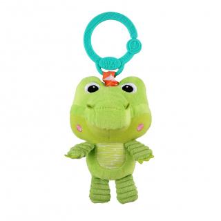 Hračka plyšová na C kroužku Take 'n Shake krokodýl 0m+