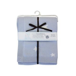 Piccolo bambino Pletená deka hvězdičky 76x76 cm modrá