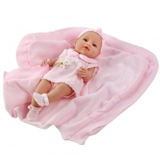 Luxusní dětská panenka-miminko Berbesa Ema 39cm Růžová