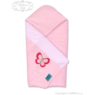 Vyšívaná zavinovačka Belisima Motýlek růžová Růžová