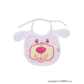 Dětský bryndák New Baby bílo-růžový Bílá